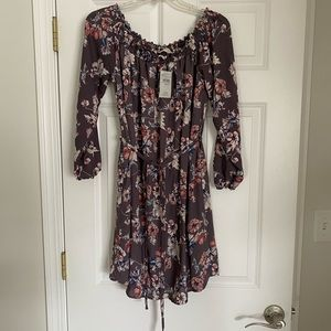 Off the shoulder floral dress from Buckle